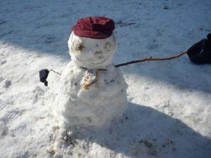 大興奮の雪遊び